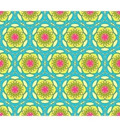 Bright seamless paisley pattern vector image