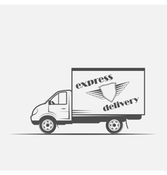 express delivery freight car vector image vector image