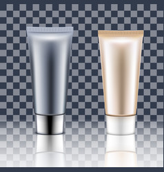 tube cream on a transparent background vector image vector image