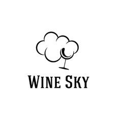 wine sky vector image