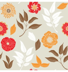 autumn prints vector image vector image