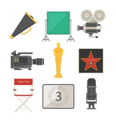 cinema movie making tv show tools equipment vector image