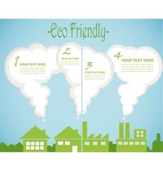 factory pollution vs green city enviroment vector image