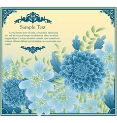 Floral greeting card in retro style vector image vector image