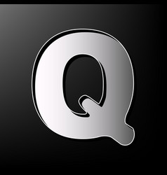 letter q sign design template element vector image vector image