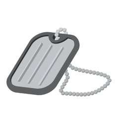 Military badge cartoon icon vector image vector image