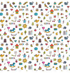 seamless pattern for cute little girls and boys vector image vector image