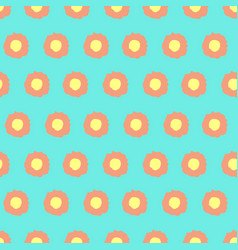 Simple floral pattern with rounded elements vector
