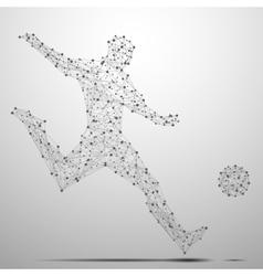 footballist poly gray vector image