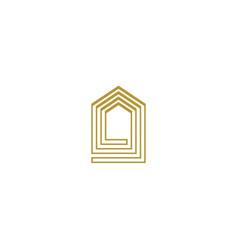 luxury house logo icon design template vector image
