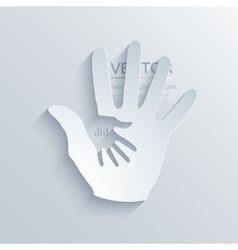 modern hands icon background vector image