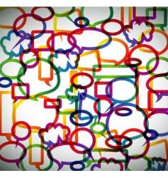 speech bubbles pappern vector image vector image