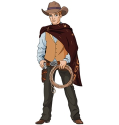 Young cowboy vector image vector image
