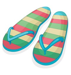 A pair of a colorful slippers vector