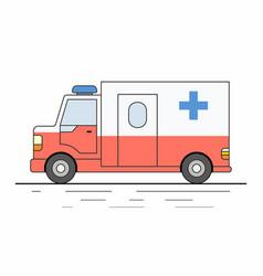 Ambulance car isolated on white background vector