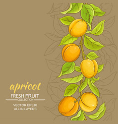 Apricot background vector