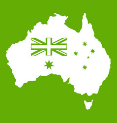Australia icon green vector