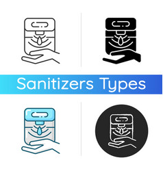 Automatic hand sanitizer dispenser icon vector