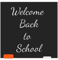 Back to School Chalkboard Background vector image