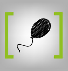 Balloon sign black scribble vector