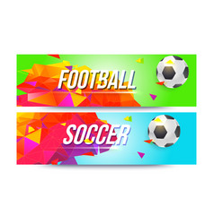 banners for football teams championships of vector image