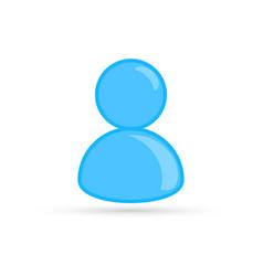 blue male profile picture silhouette profile vector image