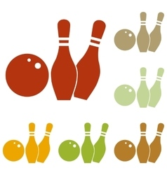 Bowling sign vector image