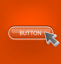 button with mouse pointer vector image