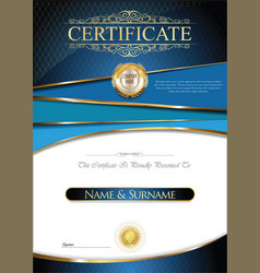 Certificate or diploma retro design collection vector