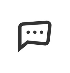 Chat speech bubble and dialog balloon line style vector