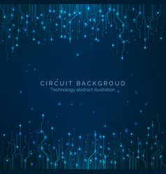 circuit board technology background abstract vector image