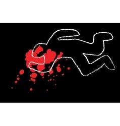 Classic crime scene vector