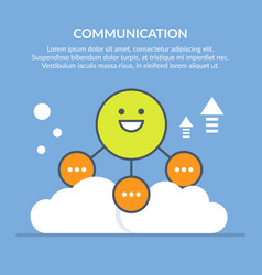 communication or interaction vector image