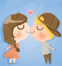 couple cute boy and girl vector image