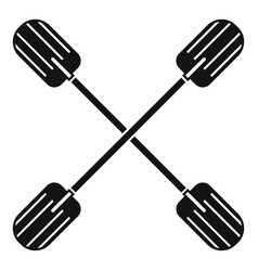 cross paddle icon simple style vector image