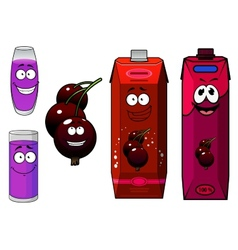 Currant berry and fresh juice vector