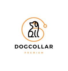dog collar logo icon vector image