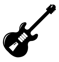 Electric guitar icon simple style vector