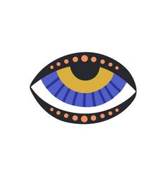 Esoteric evil eye with eyelids mystical sacred vector