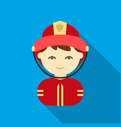 Fireman flat icon for web and mobile vector