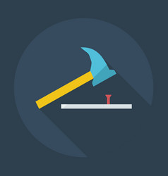 Flat modern design with shadow icons hammer vector
