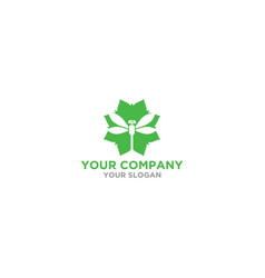 flower dragonfly logo design vector image