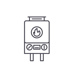 gas heating line icon concept gas heating vector image