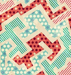 Geometric cloth seamless pattern with grunge vector