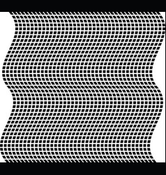 geometric wave black and white texture mesh grid vector image vector image
