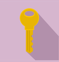 gold key icon flat style vector image