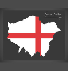Greater london map england uk with english vector