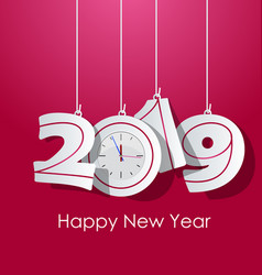 happy new year 2019 chienese new year year of vector image