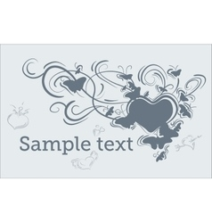 heart pattern isolated on white background vector image vector image