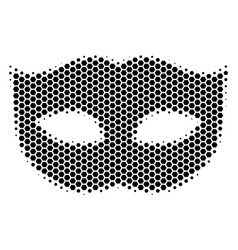 Hexagon halftone privacy mask icon vector